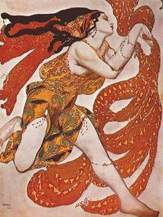 ETUDE DE COSTUME POUR LE BALLET NARCISSE (AVANT 1911)-BAKST LÉON
