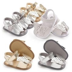 68cd9ea81dec Raise Young PU Leather Butterfly Summer Baby Girl Sandals Soft Soles  Non-slip Toddler Girl Shoes Newborn Infant Footwear 0-18M