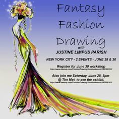 JUNE 30, 2014 NYC WORKSHOP - FANTASY FASHION DRAWING -TO REGISTER https://www.facebook.com/events/555299421245837