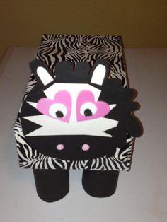 zebra valentine cards