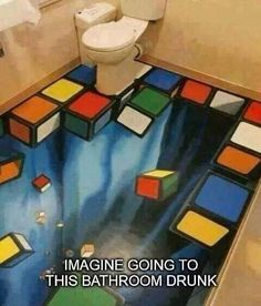 Imagine going to this bathroom drunk ...