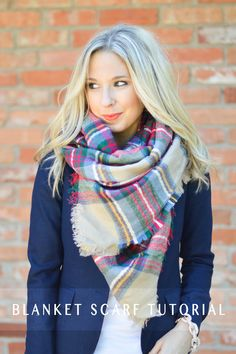 I'm sharing 4 of my favorite ways to wear the blanket scarf. (PLUS a video tutorial at the end)