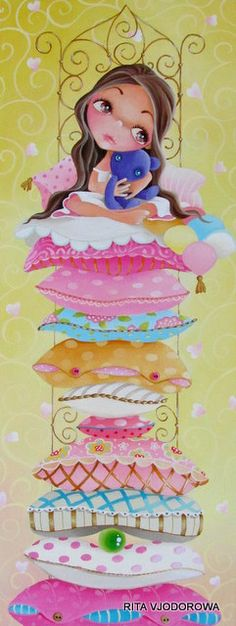 All of the current work of Rita Vjodorowa Princess And The Pea, Morris, Art Story, Fairytale Art, Kids Story Books, Hans Christian, Paintings I Love, Art Background, Children's Book Illustration
