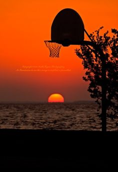 Basketball Sunset 11 X 14 Print by NaturesCall on Etsy, $26.00