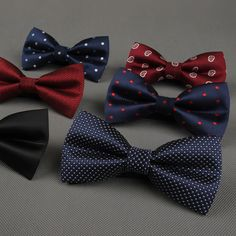 Newest Polyester Men's Bow Tie Brand Classic Dot Solid Ties Bowtie Leisure Business Shirts Bowknot Bow Ties Cravats Accessories <3 Detailed information can be found by clicking on the VISIT button