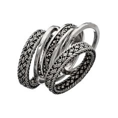Lois Hill Classics 5 Piece Stackable Ring Set
