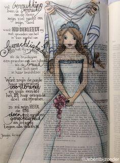 The pure bride! Scripture Art, Bible Art, Bible Verses, Corinthians Bible, Beautiful Word Bible, Bible Study Journal, Art Journaling, Bibel Journal, Bible Drawing