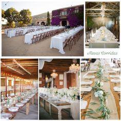 Blog de Organización de Bodas - Wedding Planner Madrid - Boda con Mesas Alargadas