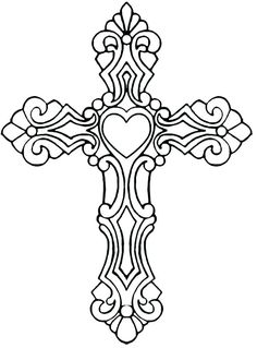 Celtic Cross Coloring Page Cross Coloring Page, Coloring Book Pages, Printable Coloring Pages, Cross Tattoo Designs, Cross Designs, Cross Drawing, Stencils, Art Quilling, Bild Tattoos