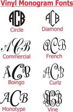 Free Monogram Fonts for Vinyl - WOW.com - Image Results