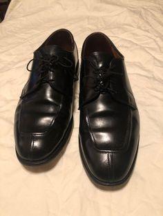 4df1524e36a ALLEN EDMONDSBlack MENS 10.5 W WIDTH DRESSY LEATHER SHOES  fashion   clothing  shoes