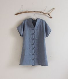 handmade to measure plus size  heavy linen piece by annyschooecoclothing,