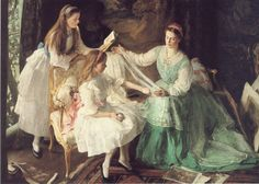 A Tangled Skein, George Harcourt. WHITE DRESSES WITH COLORED ACCESSORIES, oh how I love thee.