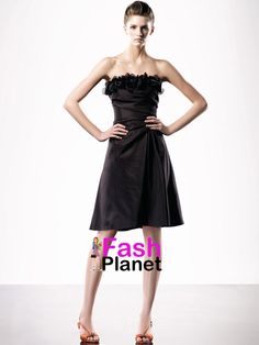 A-line Strapless Hand-Made Flower Sleeveless Knee-length Taffeta Cocktail Dresses / Homecoming Dresses Mini Prom Dresses, Strapless Cocktail Dresses, Dresses Short, Cheap Prom Dresses, Strapless Dress Formal, Evening Dresses, Girls Dresses, Formal Dresses, Dresses 2013