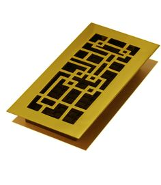 4-Inch by 8-Inch Rubbed Bronze Decor Grates SPH408-RB Scroll Plated Register