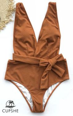 Calling all the trendsetting babes: You won't want to miss Cupshe Sea Escape Solid One-piece Swimsuit! Solid color makes you elegant. Show off your unique beauty. Check it out!
