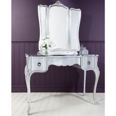 RRP £1919 ... NOW £1593 French Style Silver Vanity Unit #4livinguk