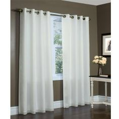 "104"" X 84"" Ivory Thermavoile Rhapsody Semi Sheer Lined Grommet Top Curtain Panel By Commonwealth Home Fashions by Thermavoile. $39.99. 104"" wide x 84"" long. 104"" X 84"" Ivory Thermavoile Rhapsody Semi Sheer Lined Grommet Top Curtain Panel By Commonwealth Home Fashions. Save 38% Off!"