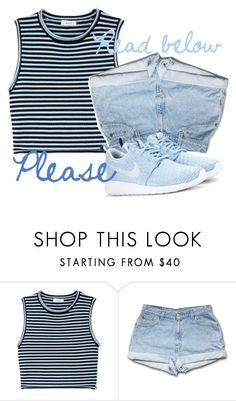 """read below"" by caroliineexo ❤ liked on Polyvore featuring A.L.C. and NIKE"