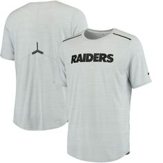 a07ad0788 Oakland Raiders Nike Sideline Player Performance T-Shirt - Silver