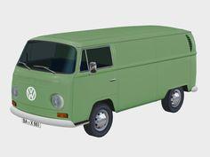 Transporter T2a von 1967 - 5er Set, farblich sortiert