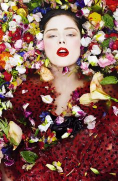 ❀ Flower Maiden Fantasy ❀   Coco Rocha Photographed by Sofia Sanchez and Mauro Mongiello