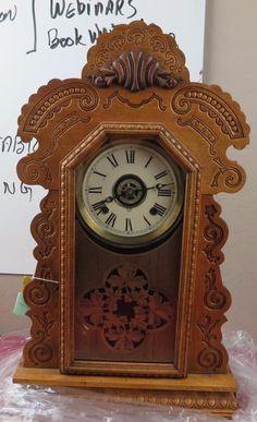 Antique Ansonia Clock, comes with pendulum and Key, was running, not now -repair Antique Ansonia Clock, comes with pendulum and Key, was running, not now -repair Antique Ansonia clock. The size is 2