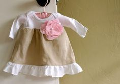 Turn a Onsie into Baby Dress