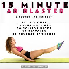 15 Minutes to Blast Your Abs