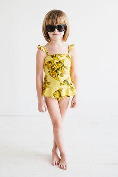 Le Petit Organic | Featuring Mini Rodini Swim | Sweet Little Peanut #kidsfashion #girlsswimwear