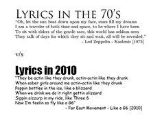 Lyrics. yup Led Zeplin def did a better job.