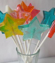 Star Magic Wand Lollipop 1/2 dozen by sweetniks on Etsy