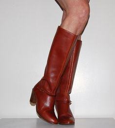 Vintage Boots Golden Brown by CheekyVintageCloset on Etsy, $54.00