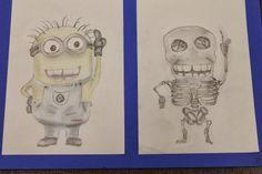 Cartoon Skeleton Drawings