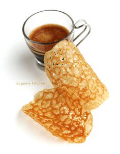 Coffee Tuiles Recipe – Crisp French Wafers. Espresso with a tuile is an elegant way to finish a meal. by Eugenie Kitchen