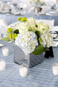 Yacht Club Wedding ~ Nautical touches throughout