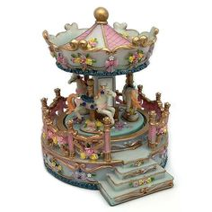 Color Rosa, Musical, Snow Globes, Home Decor, Snowball, Pastel Shades, Carousel, Miniatures, Ornaments