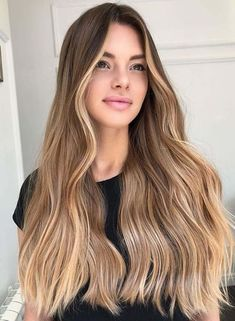 Fabulous Spring Hair Colors With Blonde Highlights For A Better Outlook - Cabello Rubio Brown Hair Balayage, Brown Blonde Hair, Light Brown Hair, Honey Balayage, Light Hair, Golden Bronde Hair, Blonde Balayage On Brown Hair, Balayage Straight Hair, Blonde Honey