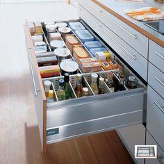 Kitchen Cabinet Divider Organizer 2020 - Home Comforts Ikea Kitchen Drawer Organization, Ikea Kitchen Drawers, Kitchen Cabinets Parts, White Kitchen Cabinets, Buy Kitchen, Kitchen On A Budget, Kitchen Interior, Kitchen Design, Do It Yourself Organization