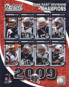 2d0699e01 2009 New England Patriots AFC East Divison Champions Composite Sports Photo  (8 x 10)