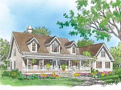 Farmhouse Style 2 story 3 bedrooms(s) House Plan with 2301 total square feet and 2 Full Bathroom(s) from Dream Home Source House Plans