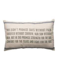Look at this 'God Didn't Promise' Throw Pillow on #zulily today!