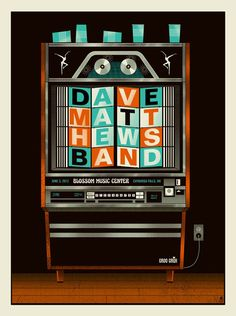 Dave Matthews Band Date: Venue: Blossom Music Center City: Cuyahoga Falls State: OH Band B, Him Band, Dave Matthews Band Posters, Blossom Music Center, Concert Posters, Music Posters, Gig Poster, Tour Posters, Event Posters