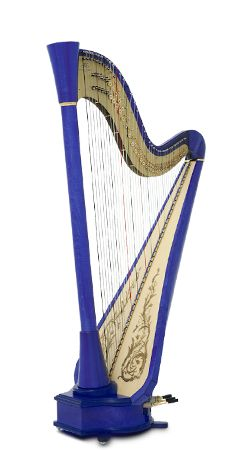 This is such beautiful harp! Electric harp in blue from Camac