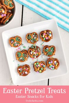 Easter pretzel treats with rolos. An easy Easter treat for kids to make and share with their friends this spring. Easter Snacks, Easter Lunch, Easter Treats, Easter Recipes, Holiday Recipes, Family Recipes, Easter Food, Yummy Recipes, Pretzel Desserts