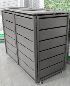 Mülltonnenbox 738293 Ecoplus, 120 Liter, Aluminium