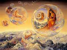 Celestial Journey - Fantasy World of Josephine Wall (Vol.01) - Bubbles of Freedom  - Josephine Wall Fantasy Paintings   35