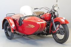 Harley Davidson 1950 WLH Hollandia combination 750cc 2 cyl sv