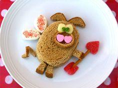valentine's day sandwich; kids food