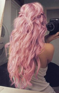 I think if I every did a crazy hair color this is what I would do